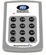 Response Card RF clicker by Responsive Innovations