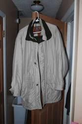 Polyester Mens Jacket. Khaki color,  size large. $40.00