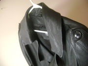 Real Leather Men's Trench Coat